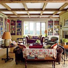 farmhouse in New York from AD, I really love everything about this room.