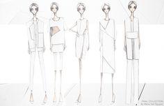 Fashion Portfolio - fashion design, final collection lineup; fashion illustration; fashion sketchbook // Maria van Nguyen