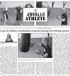 "Sports Column from Fort Collins HS, third of three. From the judge: My favorite of all sports column entires this year, the Awkward Athlete has so much going for it. From the unexpected, light-hearted premise to the funny, personal, relatable writing to the fun pop culture references and great kickers. Throw in a ""Can't Buy Me Love"" reference, to boot? I'm definitely a fan."