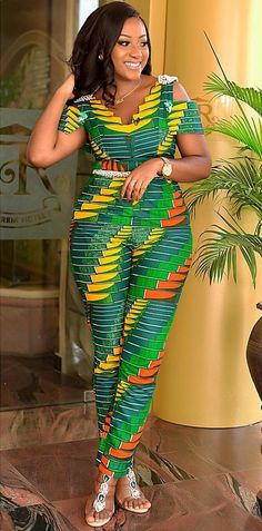 latest African print, African fashion, Ankara style in jumpsuit. African Fashion Ankara, African Fashion Designers, Ghanaian Fashion, Latest African Fashion Dresses, African Dresses For Women, African Print Dresses, African Print Fashion, Africa Fashion, African Attire