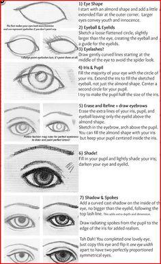 how 2 draw a eye!