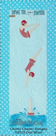 Dive In quilt pattern by Cori Blunt at Chitter Chatter Designs
