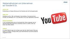 Werbemaßnahmen von Unternehmen auf #YouTube