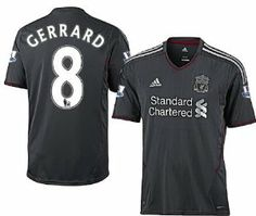 Gerrard jersey - Liverpool Away 2011-2012 (L) by adidas.  84.50. Licensed Gerrard  8. Clima Cool. Official Adidas Product. 100% Polyester. Adidas Liverpool ... 7d1a25048620e