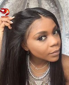 Malaysian Lace Front Wigs Long Straight Lace Front Wigs Straight Human Hair Wigs…