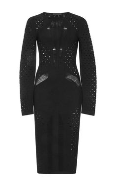 Rayon Viscose Knit Black Dress by  for Preorder on Moda Operandi