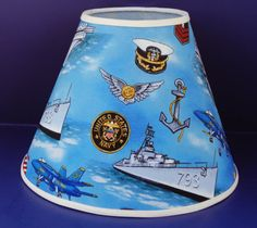 United States Navy Lamp Shade Military Patriotic by JustYourShade