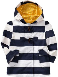 Old Navy | Striped Toggle-Front Trench Coats for Baby