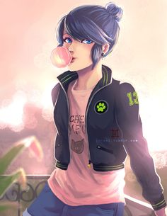 """jorael: """"I'm a sucker for stories where Marinette opens an online botique and sells LB and CN themed casual clothes she models herself. """""""