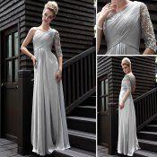 Beading Evening Dresses One shoulder Chiffon Dress E30580