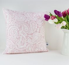 Rose Quartz cushion cover - Blush linen pillow case - Pantone colour of the year 2016!!!  This beautiful Rose Quartz floral pillow cover is the