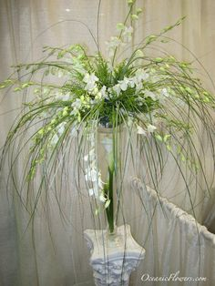 White and Green Large Centerpiece