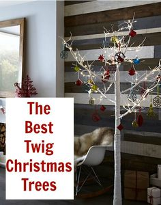 Christmas Home: Best Twig Christmas Trees. A roundup of lovely modern and contemporary Twig Christmas trees for both indoor and outdoor use. Twig Christmas Tree, Twig Tree, Cowboy Christmas, Christmas And New Year, Christmas Home, Christmas Holidays, Christmas Crafts, Christmas Decorations, Holiday Fun