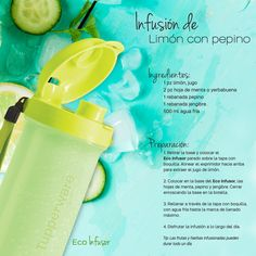 Infusión de limón con pepino #RecetaTupperware #Tupeprware