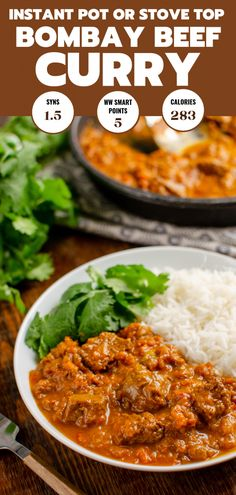 Heavenly Bombay Beef Curry - tender pieces of beef in a delicious aromatic curry sauce. beef curry Bombay Beef Curry (Stove Top and Instant Pot) Slimming Eats, Slimming World Recipes, Slimming World Beef Curry, Beef Curry Indian, Indian Cookbook, Fried Fish Recipes, Chicken Recipes, Cooking Recipes, Healthy Recipes