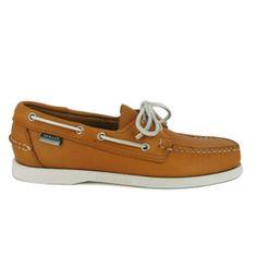 Sebago Docksides Burnt Orange Lace up casual Shoes for Men