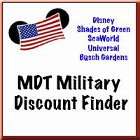 Military Disney Tips Discount Finder - Disney, Universal, Shades of Green, SeaWorld, Busch Gardens, find out what discounts you qualify for