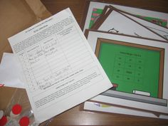 MATH KITS for in-class and to take home. Great idea with templates.
