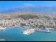panorama of the port and the city of Patra. Patra is Greece's third largest urban area and the regional capital of Western Greece, in northern Peloponnese, 215 km mi) west of Athens Solar Water Heater, Greek Music, Greece Travel, Athens, Patras, Urban, River, Vacation, City