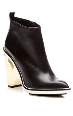 Metallic-Heel Leather Ankle Boots by Nicholas Kirkwood - Moda Operandi