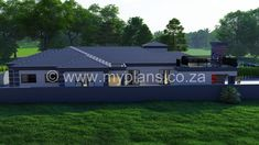4 Bedroom House Plan – My Building Plans South Africa Tuscan House Plans, Metal House Plans, My House Plans, Family House Plans, Split Level House Plans, Square House Plans, My Building, Building Plans, House Plans South Africa