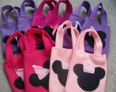 MINNIE MOUSE PARTY/ Felt party bags/ Set of 4 Party favor/ all