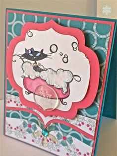 Cat Bubble Therapy! Card