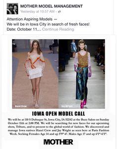 You Should Be A Model! Here's Your Chance — BUZZ SALON-#mothermodel #iowacity at #buzzsalon