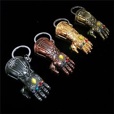 2018 new Marvel Avengers 3 Thanos Infinity glove Gauntlet Keychain Anime Key Ring For Gift Chaveiro Key chain Jewelry porte clef -