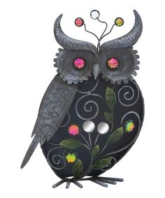 Love this 12'' Metal Mirrored Owl on #zulily! #zulilyfinds