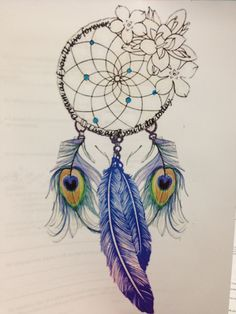 Love the dream catcher n the Lillies n the writing ....maybe on foot, side, leg ...and message inside it :)