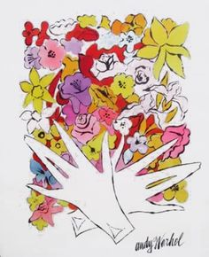 """Flowers and Gloves"" by Andy Warhol"