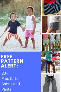 This is our newest compilation of FREE PATTERN ALERT: Free Girl's Bottoms Patterns Plus, some . Kids Patterns, Sewing Patterns Free, Free Sewing, Sewing Tutorials, Free Pattern, Sewing Projects, Sewing Ideas, Craft Online, Unique Prom Dresses