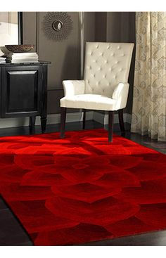 $5 Off when you share! Rugs USA Cenon Floral Transitions Red Rug