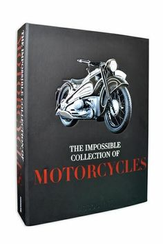 Motorcycles Impossible Collection by Assouline  Undeniably fascinating, the motorcycle exudes speed, danger and cool. This stunning volume presents 100 of the most incredible bikes from the past century. Printed on cotton paper, includes black rubber gift box. #sleek #fashion #motorcycle #style #limitededition #cars #FathersDay #FathersDayGift #Assouline #Books #HomeDecor #InteriorDesign #GiftIdeas #ForHim #gentleman #Yvr #Vancity #Vancouver #quality #luxury #GiftsForDad #photography