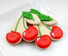 Cherry Cookie decorating tutorial