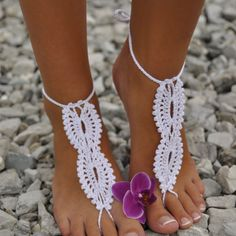 Barefoot beach sandals. Made for boho and beach brides by Forever Soles, N.S.W Australia. www.foreversoles.com