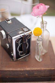 #vintage, #cameras  Photography: Mustard Seed Photography - mustardseedphoto.com  Read More: http://www.stylemepretty.com/2012/07/26/backyard-new-braunfels-wedding-by-mustard-seed-photography/