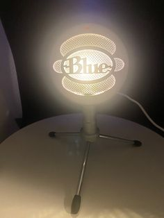 Wow picks! Blue Snowball microphone lamp - WHITE at $150.00 Choose your wows. 🐕 #MusicFanGift #mic #MicrophoneLamp #Lamp #GiftForSinger #Music #MicLamp #Light #Microphone #MicrophoneLight Blue Snowball Microphone, Christmas Ships, Lamps For Sale, Led Lamp, Light Music, Big