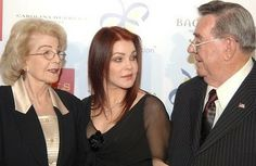 {*Priscilla With her Mum & Dad..... So lucky to have both her parents still....... (Elvis & his family side died So long ago*} :(