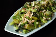 Asparagus and Edamame Salad with Lime-Miso Dressing