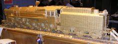 Locomotive made out of matchsticks