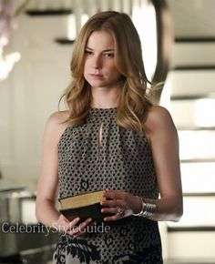 Seen on Celebrity Style Guide: Revenge Style & Fashion: Emily Van Camp, as Emily Thorne, wore this pleated neckline, eyelash-lace trimmed hem top on Revenge episode 'Hatred'   Get It Here: http://rstyle.me/n/ewqfcmxbn