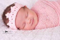 Crochet baby crown Baby girl tiara