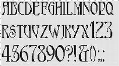 needlepoint alphabet patterns free - Google Search
