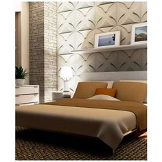 WALL DIMENSION Easy Peel And Stick 3D Wall Panel - FLOWER Design. Dramatically Transform Your Living Space In An Afternoon. Impress Your Friend With Your Wall of Art. - WD-076C