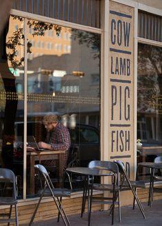 Ryan Feerer: Abi-Haus Identity and Collateral Cafe Bar, Cafe Restaurant, Restaurant Design, Cafe Design, Store Design, Coffee Shop, Café Bistro, Store Front Windows, Restaurants