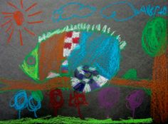 """2nd Grade Chameleons   King Elementary Art Room  Read """"Chameleon's Colors""""  by Chisato Tashiro, and then create colorful chameleons with a construction drawing lesson"""