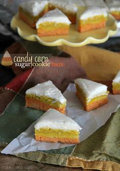 Candy Corn Sugar Cookie Bars via @Shelly Figueroa Jaronsky (cookies and cups)