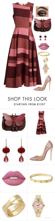 """""""Untitled #1158"""" by alwateenalr on Polyvore featuring Anya Hindmarch, Roksanda, Irene Neuwirth, Christian Louboutin, Cartier and Rolex"""